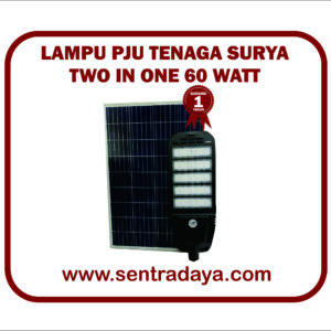 LAMPU PJU TENAGA SURYA 2 IN 1 60WATT | PJU SOLARCELL 2 IN 1 LIFEPO4