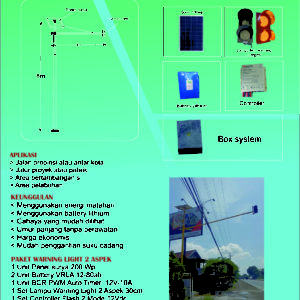paket warning light tenaga surya