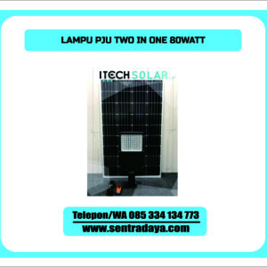 LAMPU PJU SOLARCELL 2 IN 1 80WATT | PJU TENAGA SURYA TWO IN ONE 80WATT